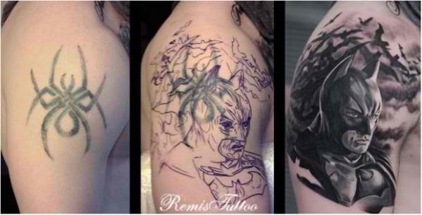 Prekrytie starých tetovaní