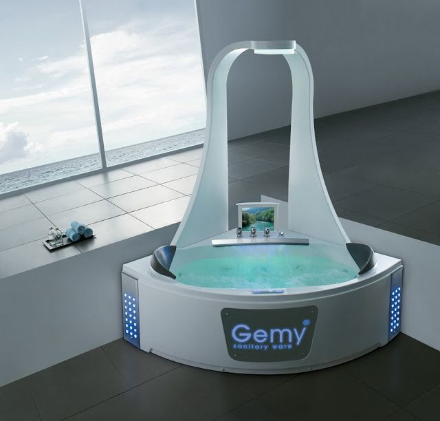 Futuristicky až sci-fi vyzerajúce kúpelne (2)