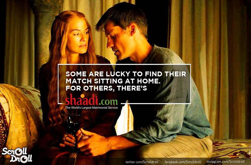 reklamy v Game Of Thrones