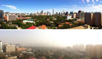 V Pekingu zakázali jazdenie autami, obyvatelia vidia čistú oblohu po dlhých rokoch