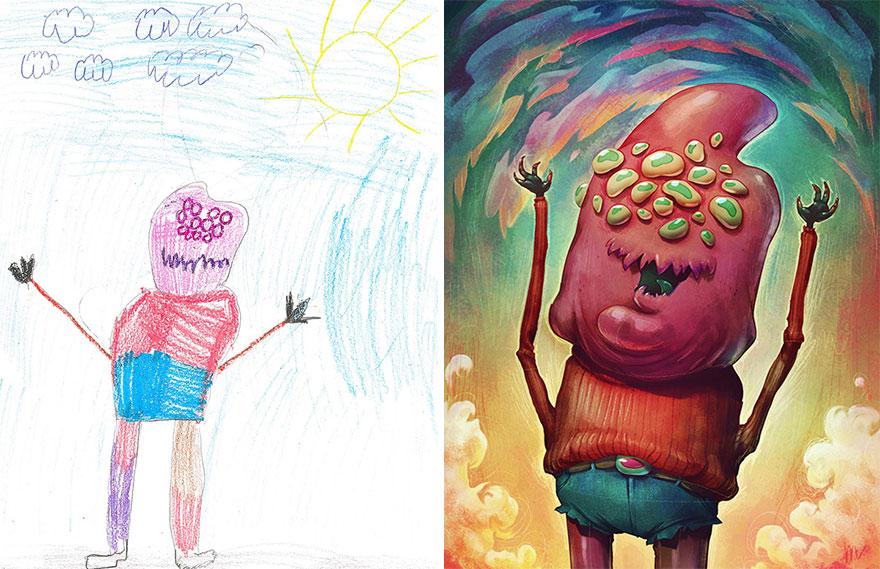 strašidelné kresby detí (11)