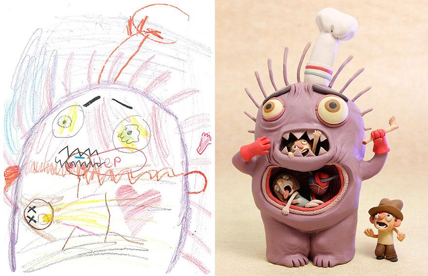strašidelné kresby detí (3)