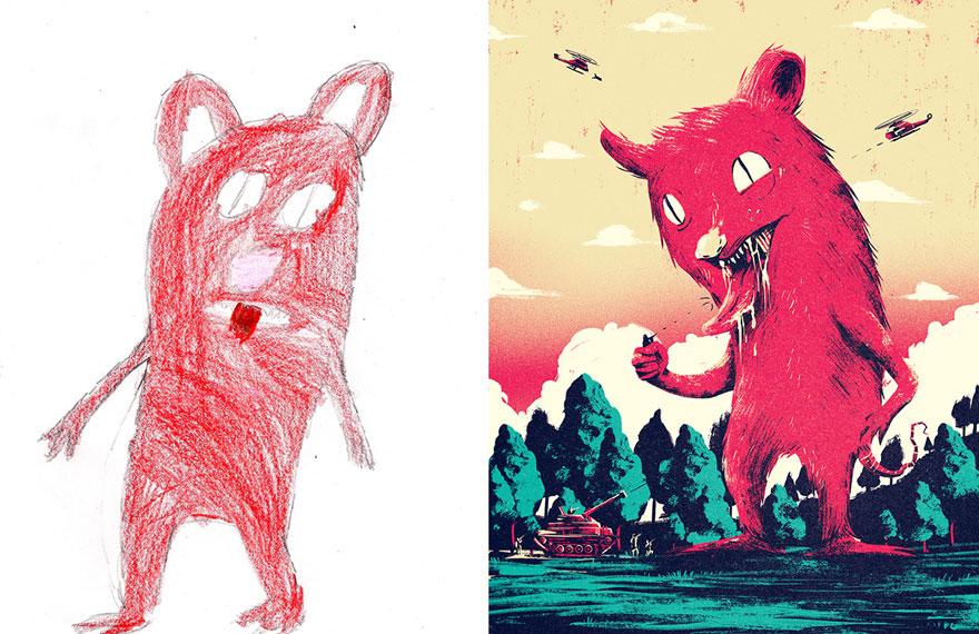 strašidelné kresby detí (4)