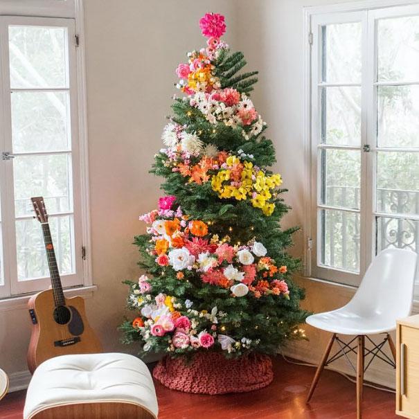 vianocne stromceky s kvetmi (2)