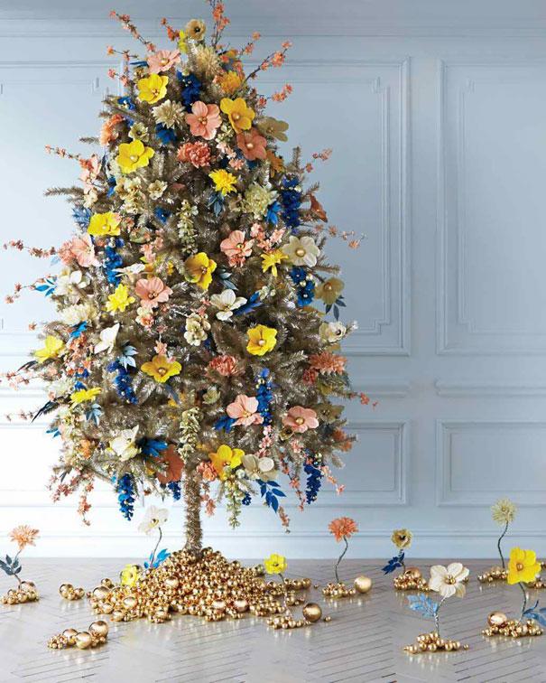 vianocne stromceky s kvetmi (7)