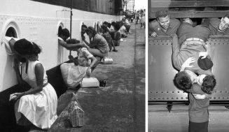 Fotky o tom, ako vyzerala láska počas vojny