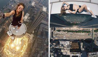 Ruské dievča s najnebezpečnejšími selfie na svete