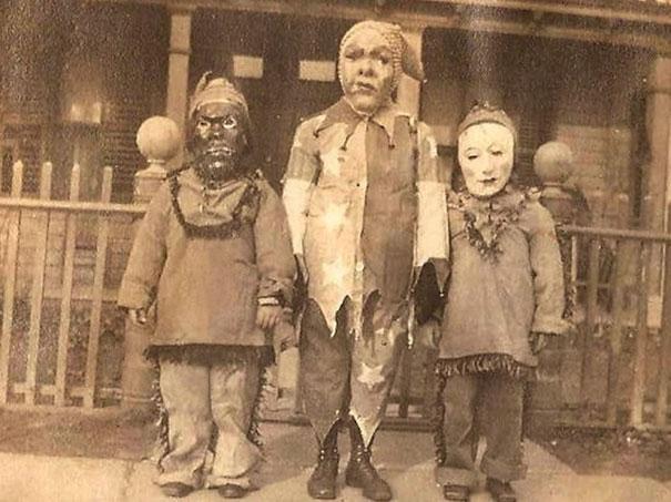 Halloweenske masky v minulosti