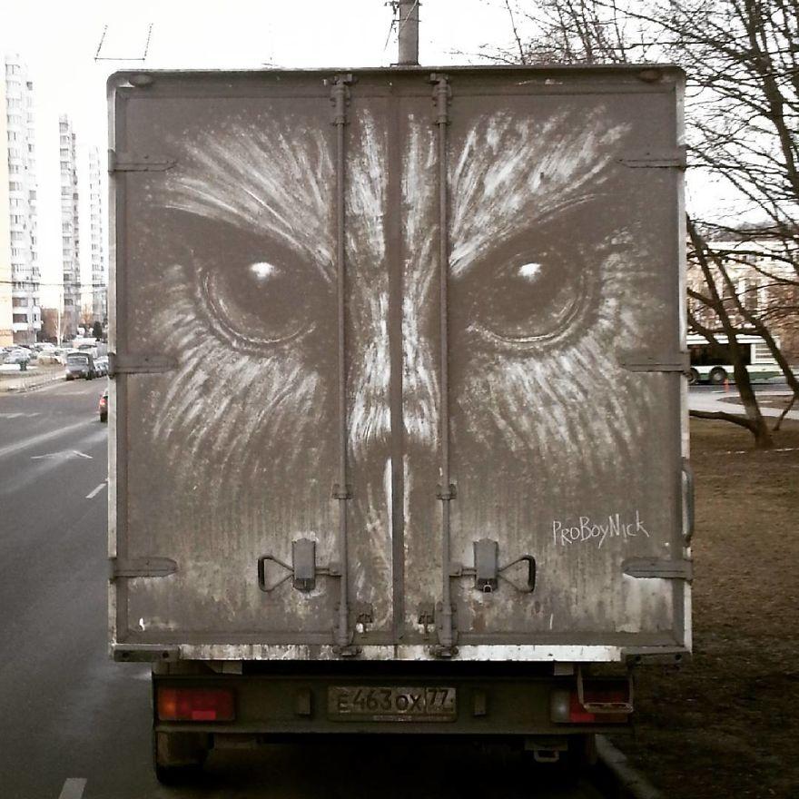 umenie na spinavych autach (2)