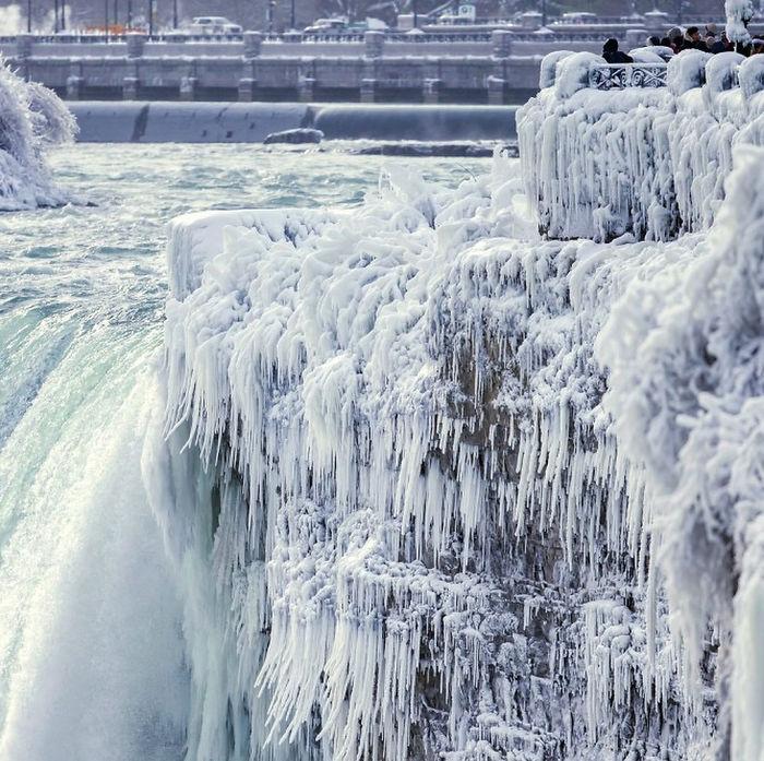 zamrznuté Niagarské vodopády