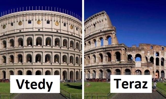 11 obrázkov o tom, ako vyzerali rímske zrúcaniny niekedy
