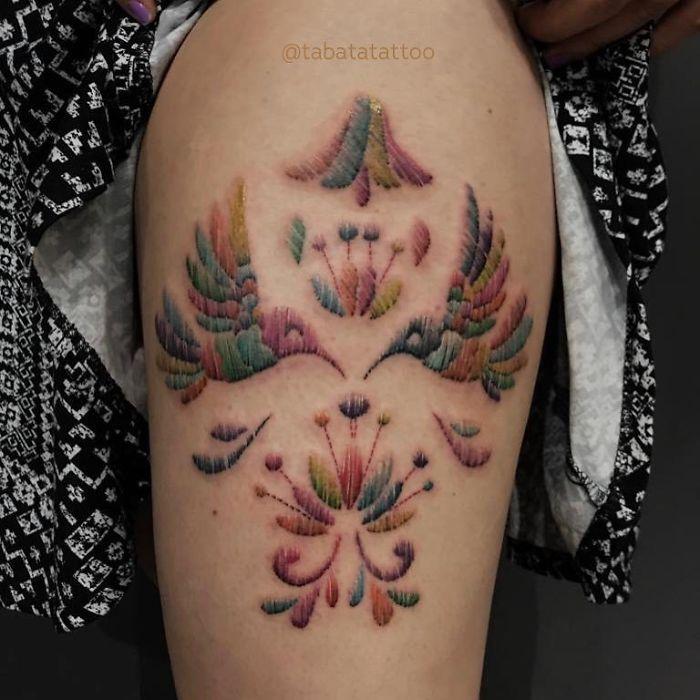 vyšívané tetovania