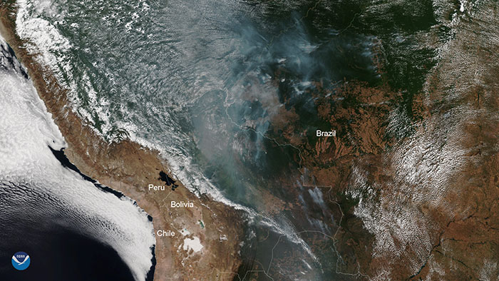 požiar v amazonskom pralese