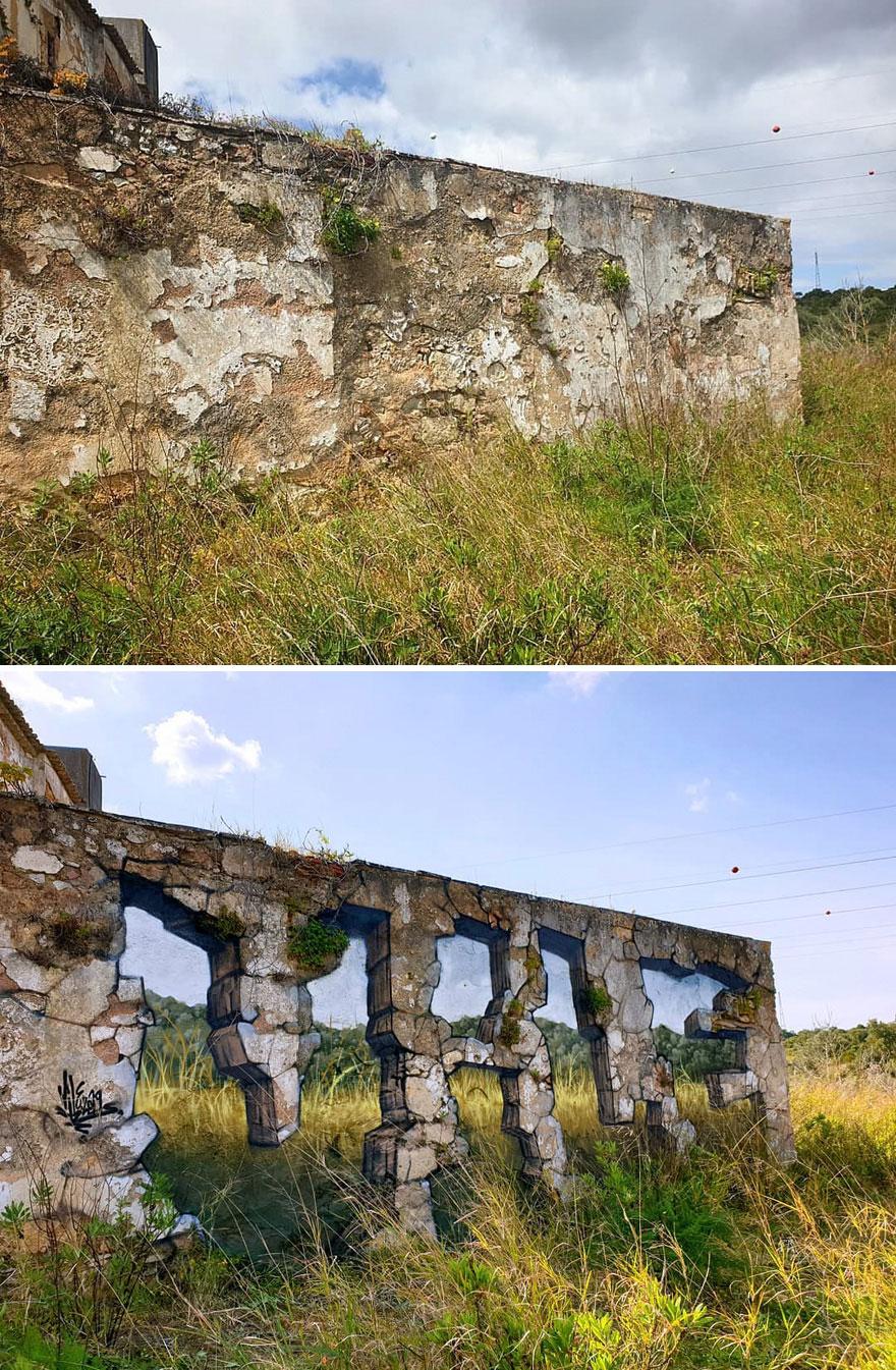priesvitné grafiti