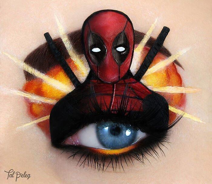 kreatívne očné tiene